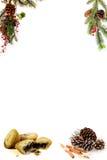 Menú en blanco de la Navidad para sus propias palabras Imágenes de archivo libres de regalías