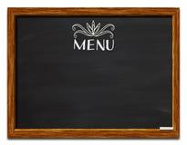 Menú en la pizarra Imagen de archivo libre de regalías