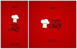 Menú especial del cocinero. Imagen de archivo libre de regalías