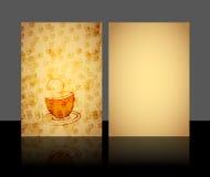 Menú para el restaurante Imagen de archivo libre de regalías