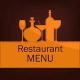 Menú para el restaurante y el café Fotografía de archivo libre de regalías