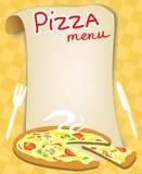 Menú para la pizza Fotos de archivo libres de regalías