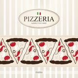 Menú para la pizzería Imagen de archivo libre de regalías