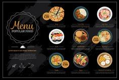 Menú popular de la comida libre illustration