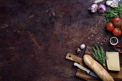 Menú rápido de los ingredientes, de la hamburguesa y del bocadillo del bocado Marco del restaurante, espacio de la copia, visión  fotos de archivo libres de regalías