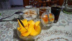 Menú Ramadhan de ayuno imagenes de archivo