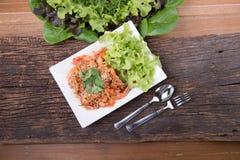 Menú tailandés de la comida Fotos de archivo libres de regalías