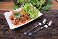 Menú tailandés de la comida Fotos de archivo