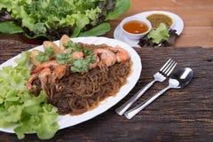 Menú tailandés de la comida Imagen de archivo