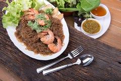 Menú tailandés de la comida Fotografía de archivo