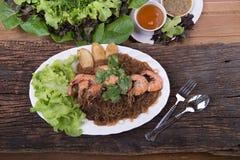 Menú tailandés de la comida Imagen de archivo libre de regalías
