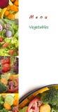 Menú vegetal Fotos de archivo libres de regalías