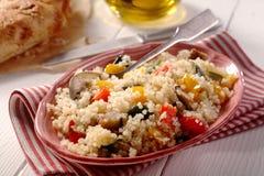 Menú vegetariano moderno de la quinoa Imagen de archivo libre de regalías