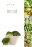 Menú verde Imagen de archivo libre de regalías