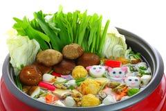 Pote de Sukiyaki Imagenes de archivo