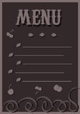 Menü in den Schokoladentönen Lizenzfreie Stockfotos