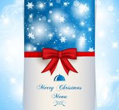 Menü der frohen Weihnachten Lizenzfreies Stockfoto