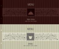 Menü für Gaststätte, Kaffee, Stab, Café Stockfoto