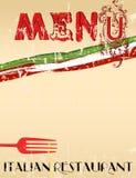Menü für italienisches Restaurant, vektor abbildung