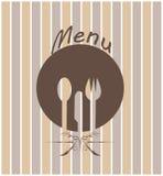 Menü für Restaurant Stockfoto