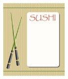 Menü für Sushi und Rollen Stockfotos