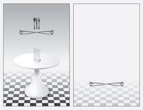 Menü mit einer Tabelle Vektor Abbildung