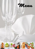 Menü - Nahrungsmittelcollage Lizenzfreies Stockfoto
