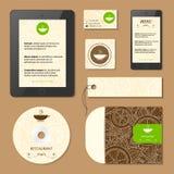 Menü und Visitenkarten für Café und Restaurant Zitronenzitrusfruchtmuster-Schablonenkarte Lizenzfreie Stockfotografie
