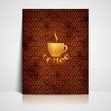 Menüdesign mit einem Kaffeezeichen Lizenzfreies Stockbild
