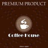 Menükarte für Kaffeehaus Lizenzfreies Stockbild