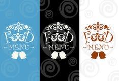 Menüschablone für Restaurant und Café Illustrationslebensmittelmenü Lizenzfreies Stockfoto