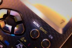 Menüschlüssel der Tastatur eines wissenschaftlichen Taschenrechners lizenzfreies stockfoto