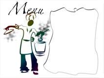 Menüvorstand Stockfoto