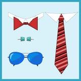 Men& à moda x27; acessórios de s ajustados foto de stock