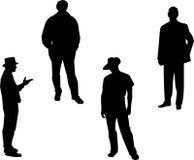 Men. Four black silhouettes of men Royalty Free Stock Photos