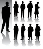 Men. Vector silhouettes of some men Royalty Free Stock Photography