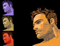 Men. Portrait beautiful young sports men Royalty Free Stock Images