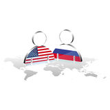 Men abstract america and russia Royalty Free Stock Photo