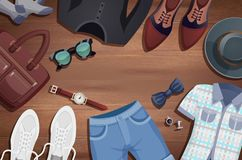 Men Accessories Illustration Background Royalty Free Stock Photo
