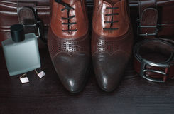Men accessories, Still life. Business look. Royalty Free Stock Photo