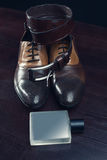 Men accessories, Still life. Business look Royalty Free Stock Photos