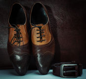 Men accessories, Still life. Business look. Royalty Free Stock Photos