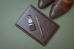 Men accessories, Still life. Business look. Stock Image
