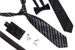 Men Accessories. On the white background Royalty Free Stock Image
