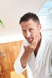 Men And Cosmetics Royalty Free Stock Photography