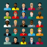 Men appearance icons. people flat icons collection Royalty Free Stock Photos