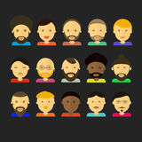 Men appearance icons. people flat icons collection Stock Photography