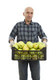 Men with apple Stock Photo