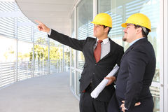 Men Architects on Construction Site Royalty Free Stock Image