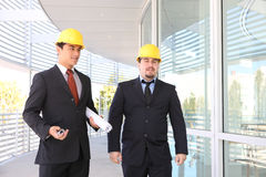 Men Architects on Construction Site Stock Image